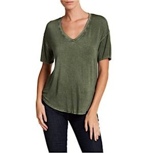 Abound Washed V-Neck Hi-Lo Tee